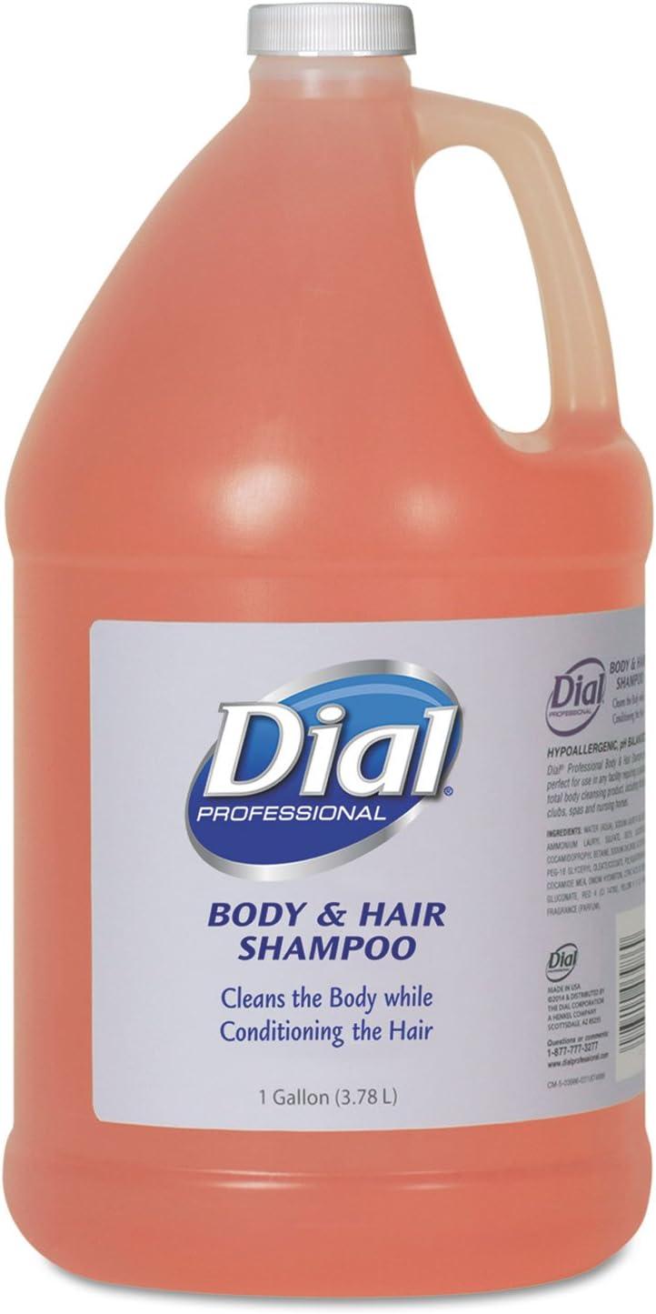 Dialiuml;iquest;frac12; Professional quot;Body and Hair Care, 1gal Bottle, Gender-Neutral Peach Scent, 4/Cartonquot; Unit of Measure: CT, Manufacturer Part Number: Dia 03986