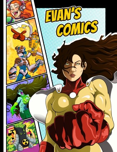 "Evan's Comics: Personalized Create a Comic!: 50 Unique, Blank, Single-Sided, Practice Pages! Each Page is Different for Drawing Your Own Comic Book on ... Variety of Panel Patterns, Size 8 1/2"" x 11"" PDF"