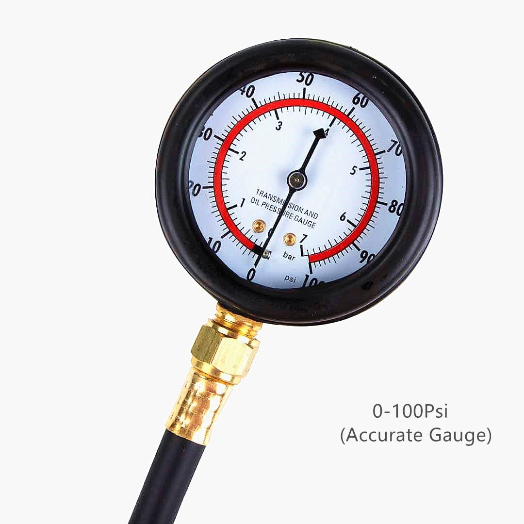 Fords Adaptation Updated Detool Fuel Pressure Gauge Newest Updated TU-114 Fuel Pressure Tester Kit 0-140Psi Gas Oil Pressure Tools for Cars and Trucks