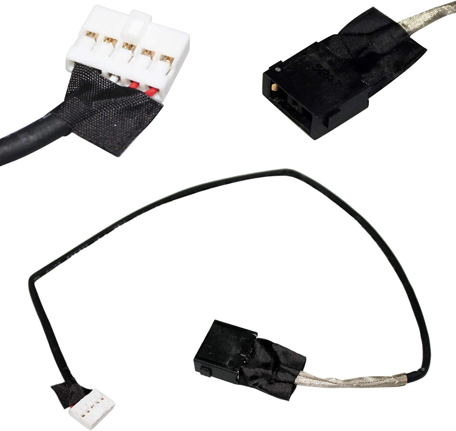 GinTai DC in Power Jack Harness Cable Socket Plug Connector Port Replacement for Lenovo Flex 3-1570 80JM 450.03S02.0011 10pcs