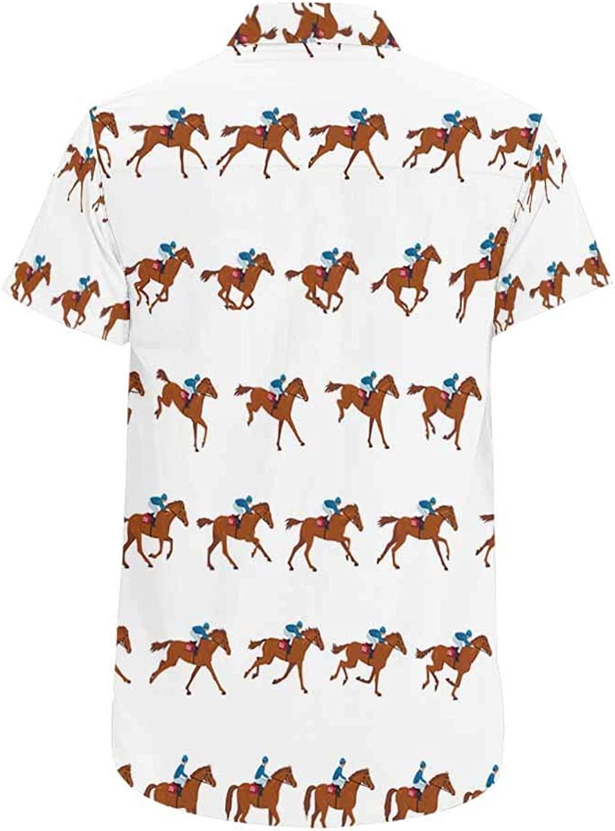 INTERESTPRINT Womens Soft Brief Racing Horses