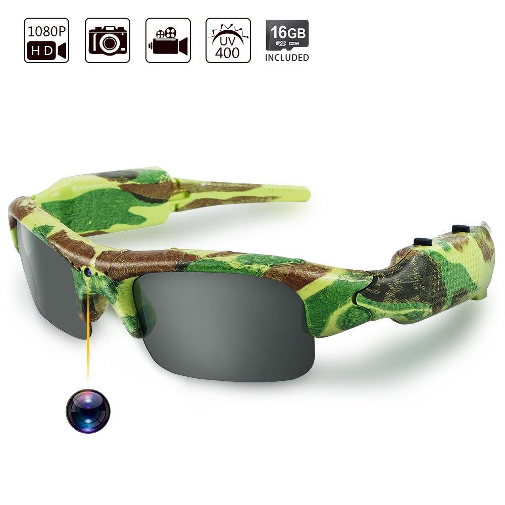 Toughsty™;1080P 高画質 高解像度 8GBSDカード付き メガネ型隠しカメラ ビデオカメラ 狩猟サングラス 録音 B01L6THY8E
