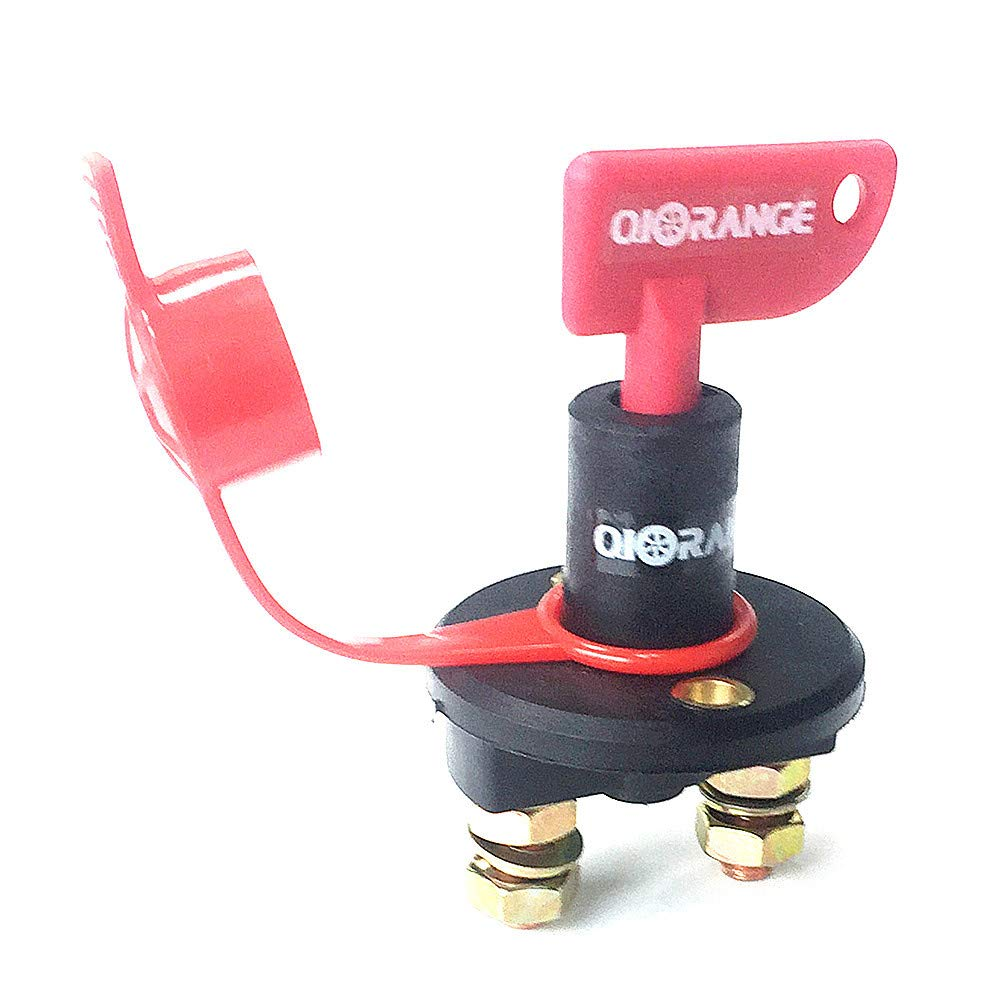 Qiorange Car Battery Isolator Cut Off Switch 24v 12v Max 500a 1 Removable Key Splash Proof Cover Motorbike