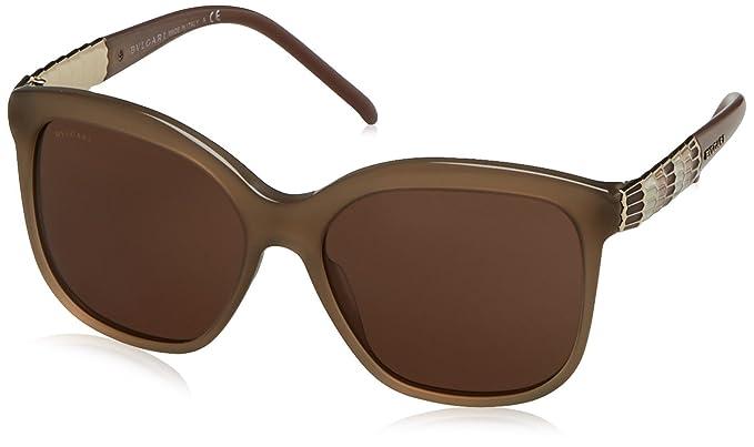 Amazon.com: anteojos de sol Bvlgari BV8155 501/8G, talla ...