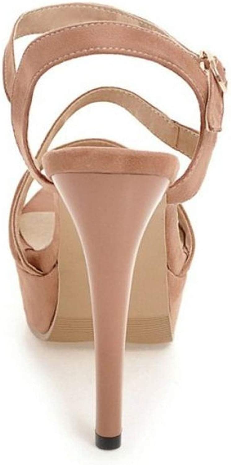 High Heel Sandals Platform Peep Toe Ankle Strap Thin Heel Sandals Summer Shoes,Ivory,6