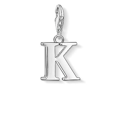 Thomas Sabo Women-Charm Pendant Letter K Charm Club 925 Sterling Silver 0185-001-12 5pmcu84DUe