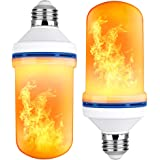 Brizled LED Flame Effect Light Bulb, 4W 1500K Flame Bulbs, 4 Modes Light Bulbs with Upside Down Effect Simulated Flaming Christmas Decorative Lights for Home, Garden, Bedroom, Party, Bar Decor, 2 Pack