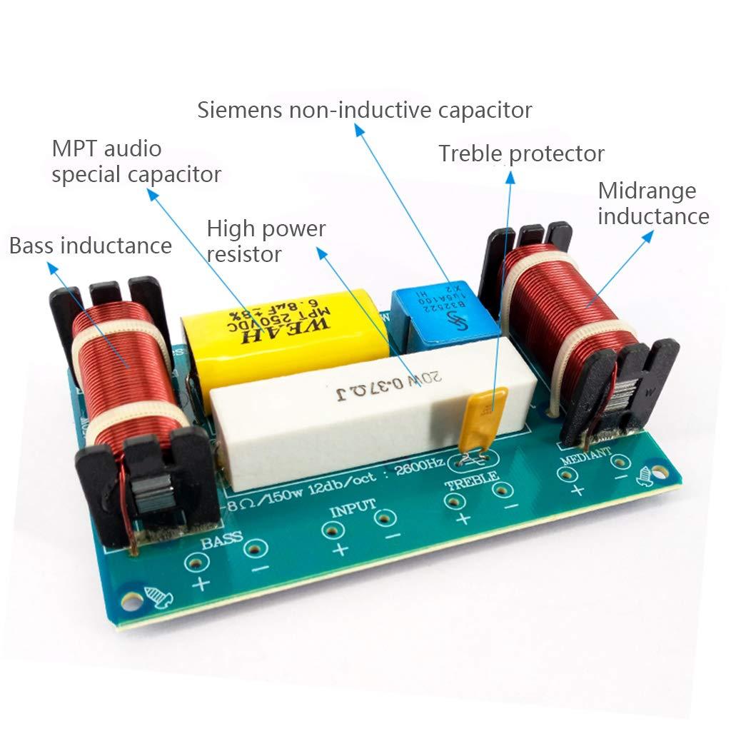 RUINAIER WEAH-338 Filtro de radiofrecuencia para Altavoz 3 v/ías, 120 W