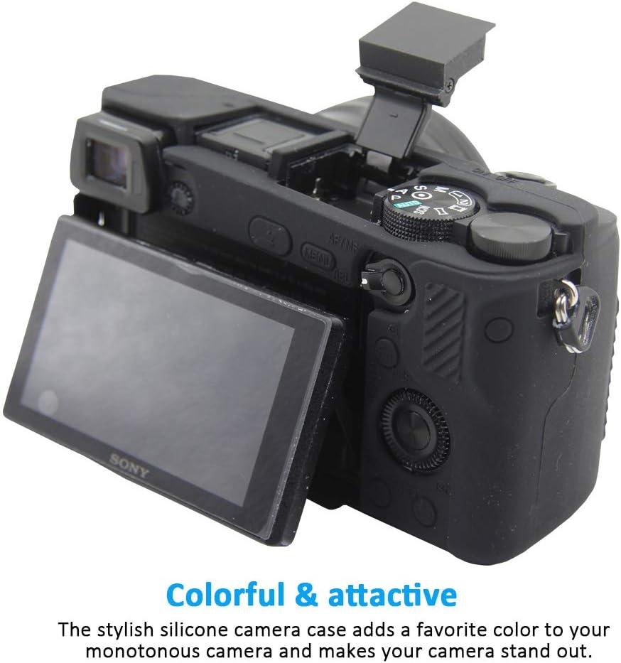 Easy Hood Schutzhülle Für Sony Alpha A6100 A6300 A6400 Ilce 6100 Ilce 6300 Ilce 6400 Digitalkamera Kratzfestes Weiches Silikongehäuse Schutzabdeckung Skin Schwarz Elektronik
