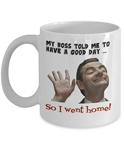 mrbean christmas gift 1d funny white coffee mug
