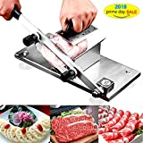 meat cut machine - [New Version]Meat Slicer, Manual Frozen Meat Slicer Stainless Steel Beef Mutton Slicing Machine, Roll Meat Vegetable Meat Cheese Food Slicer, Manual Gravity Slicer for Home Kitchen [New Version]