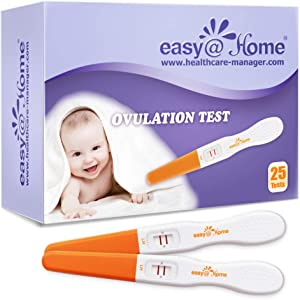 Easy@Home Ovulation Test Sticks : 25 Pack LH Midstream Tests, Accurate Fertility Test for Ovulation Tracking, 25 LH Midstreams