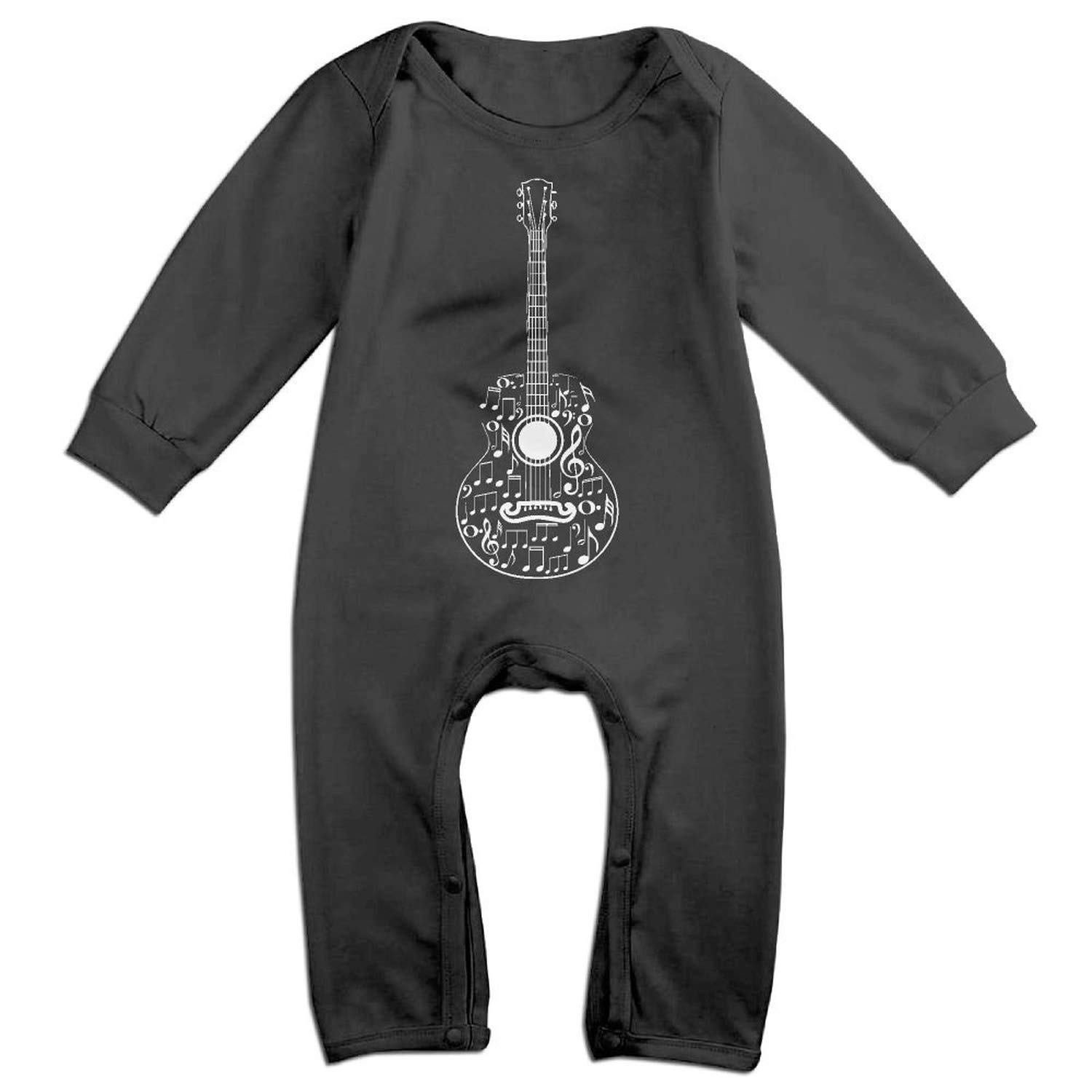 Zmli Guitar and Music Notes-1 Long Sleeve Infant Baby Boy Girl Baby Romper Jumpsuit Onsies for 6-24 Months Bodysuit