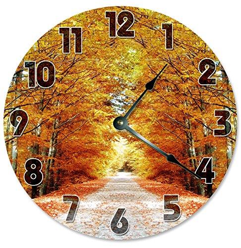 AUTUMN DIRT ROAD Clock fall wall clocks - fall wall art decor