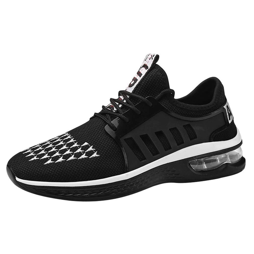 Lovygaga Fashion Men Casual Breathable Mesh Lightweight Air Cushion Bottom Sneakers Students Brief Wild Running Shoes White by Lovygaga (Image #1)