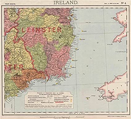 Lighthouses In Ireland Map.Amazon Com Se Ireland Leinster Lighthouses Lifeboat Stations Round