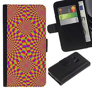 """Samsung Galaxy S3 MINI / i8190 (Not For Galaxy S3) , la tarjeta de Crédito Slots PU Funda de cuero Monedero caso cubierta de piel ("""" Hypnotic Wallpaper Geometrical Art Design"""")"""