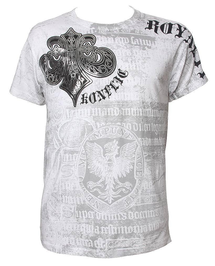 affaa8bc1ef2 Amazon.com  Konflic NWT Men s Saint s Royalty Graphic Designer MMA Muscle T- shirt  Clothing