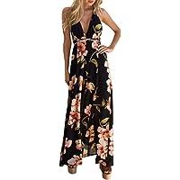 iTLOTL Women Summer Sexy Boho Long Evening Party Dress Beach Dress Sundress