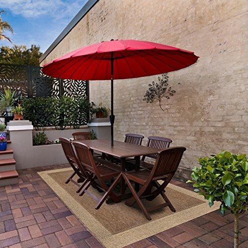(Brown Jordan Gertmenian 48195 Platinum Furman Modern Outdoor Patio Rug, 8x10 Large, Havana Tan)
