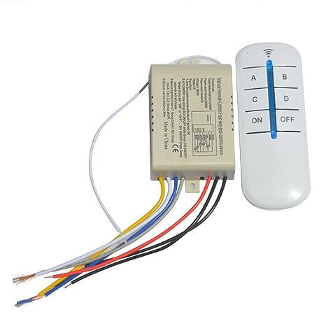 Ledmomo Télécommande 220v Fil Sans Interrupteur Canal Numérique 4 WBodExeCQr