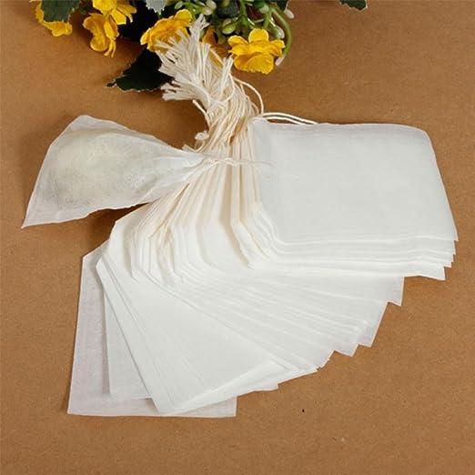 Ligntean - 100 bolsas de té vacías con filtro de hierbas ...