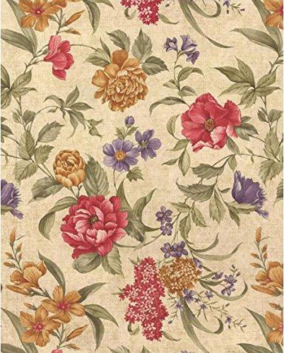 (Newbridge Nicolette Floral Flannel Backed Vinyl Tablecloth (60