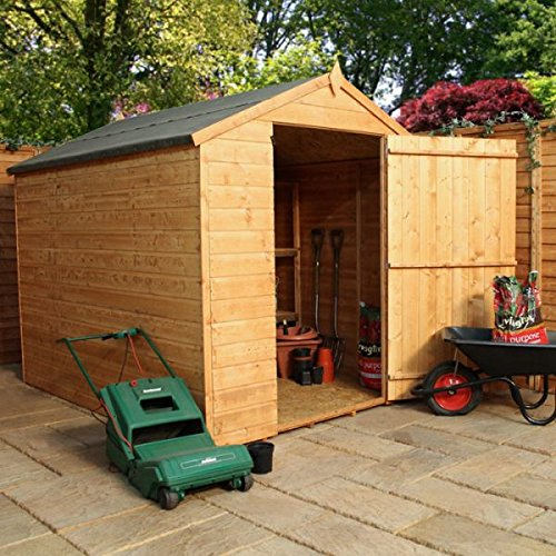 Nova 6 x 8 Shiplap sin ventanas Apex Shed - barato cobertizos - Cobertizos: Amazon.es: Jardín
