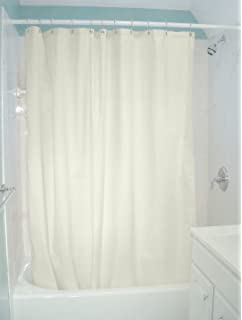 Bean Products Natural Organic Cotton Shower Curtain 7 Oz Duck Fabric