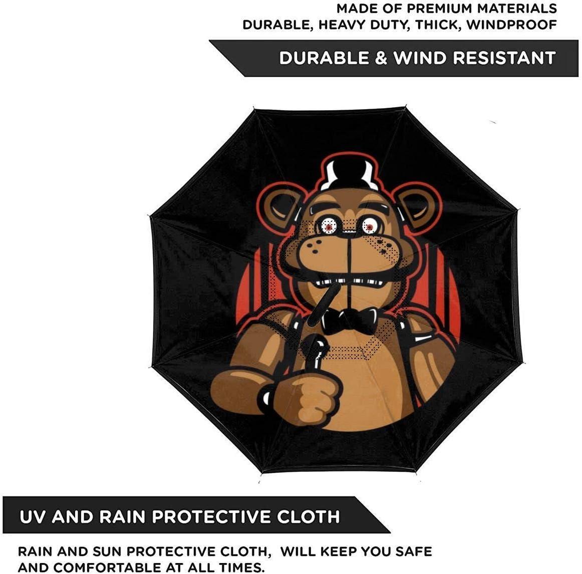 L/éger et Coupe-Vent /& ndash Chantez avec Moi Five Nights at Freddys Parapluie invers/é /à Double Couche pour Voiture Mains en Forme de C /à Pliage invers/é
