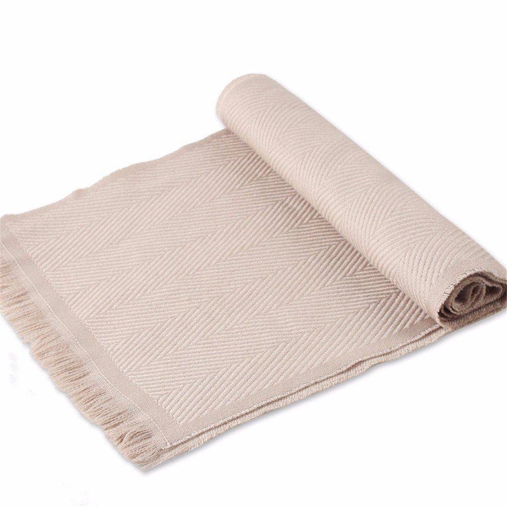 DIDIDD Bufanda de lana de negocios engrosamiento de invierno bufanda-hombres,A