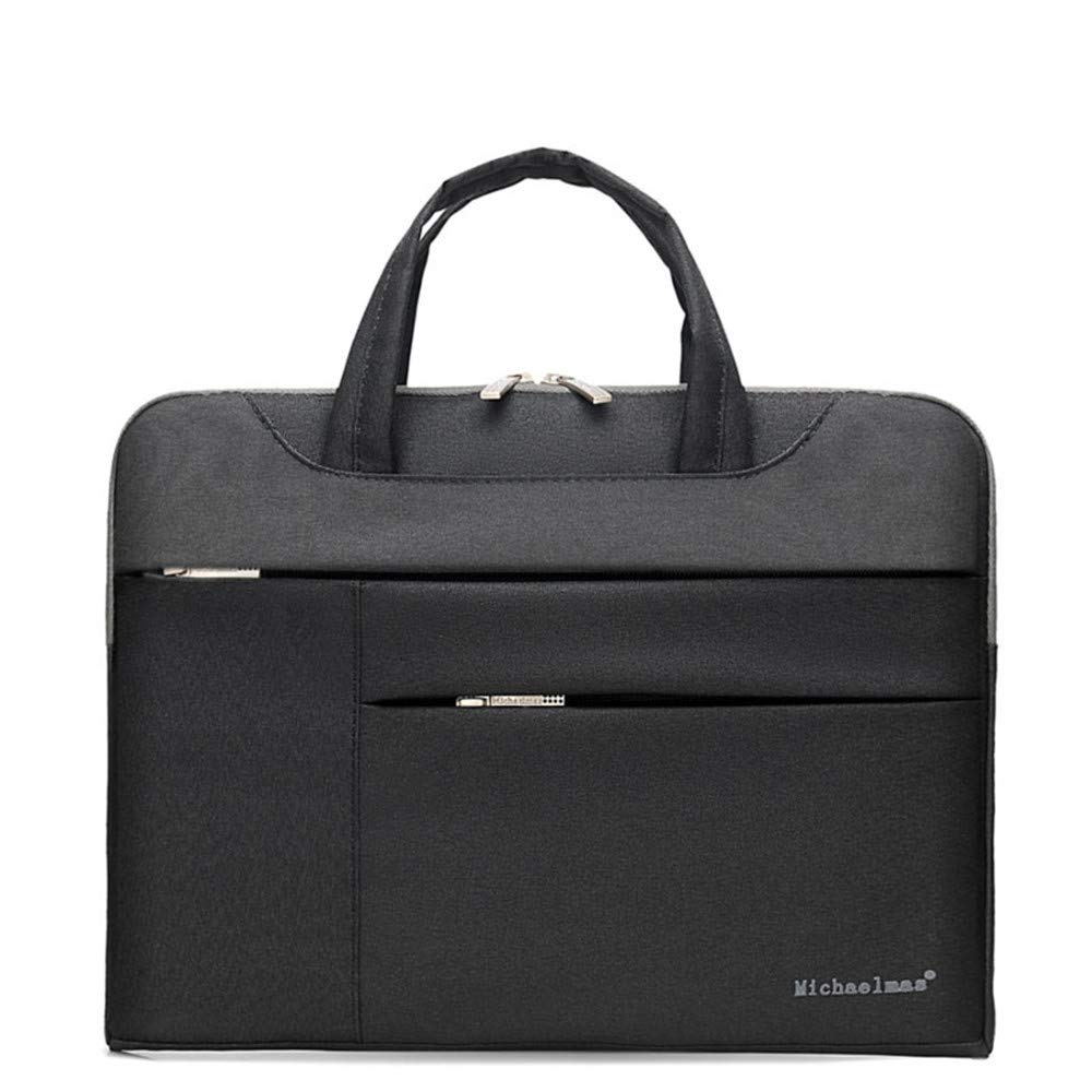 Amyannie Laptop Messenger Bag Laptop Bag Multi-Function Multi-Color Liner Bag 11''/13''/14''/15''/13.3''/15.6'' Nylon Waterproof Notebook Bag Briefcase Laptop Messenger Bag (Color : Black, Size : 14'')
