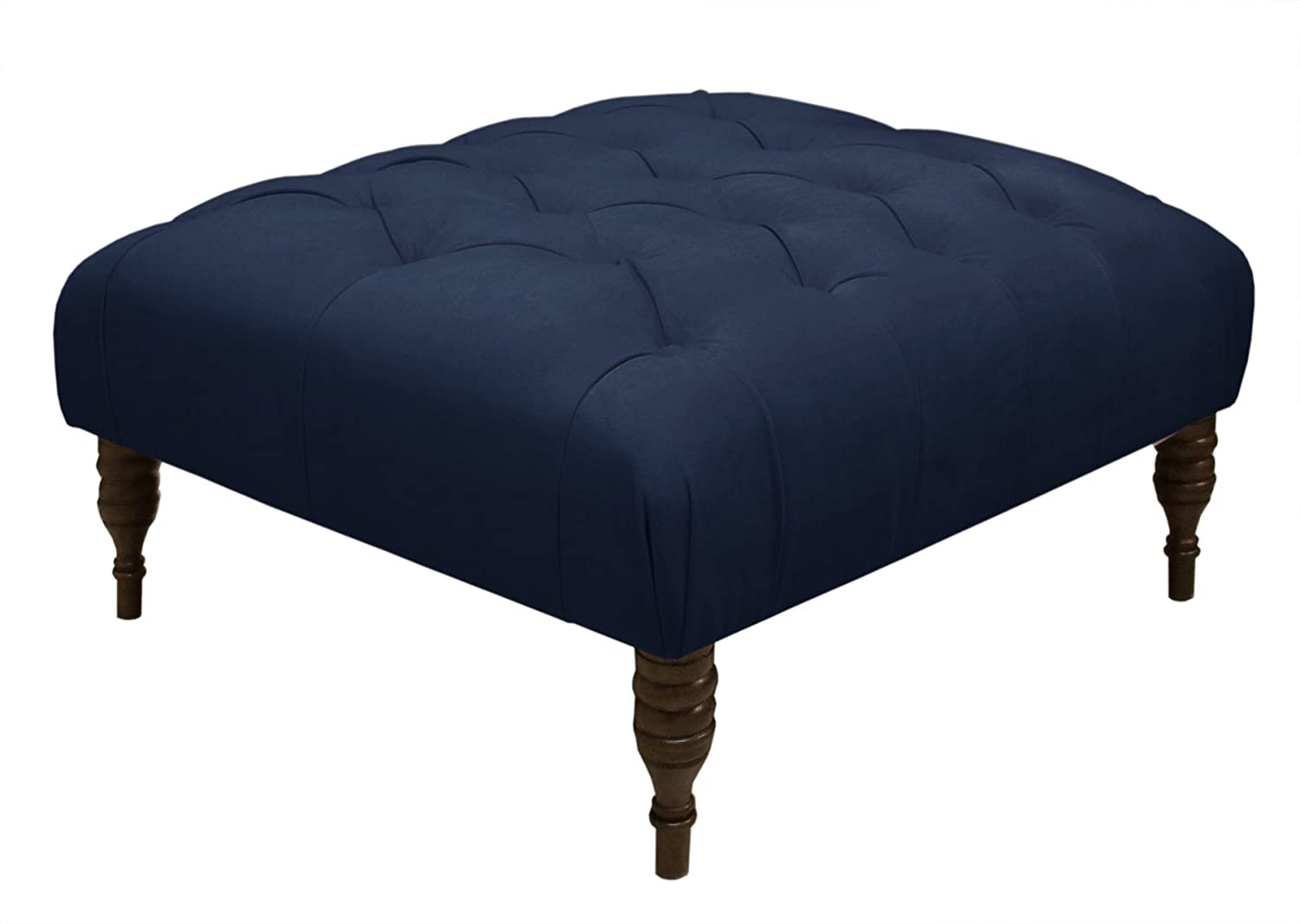 Amazon.com: Skyline Furniture Tufted Cocktail Ottoman In Velvet Navy:  Kitchen U0026 Dining