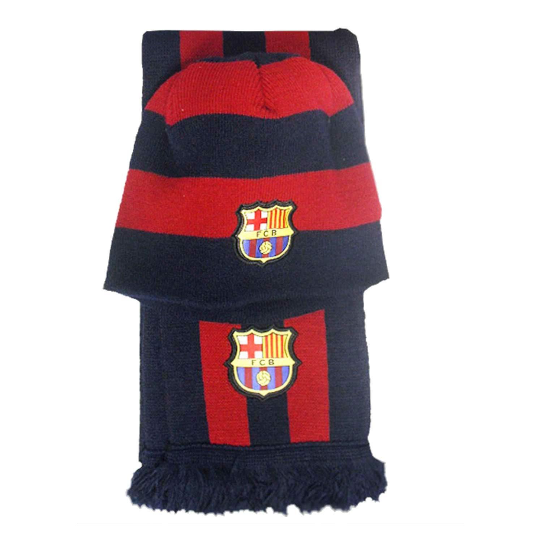 Set in September F.C. Barcelona scarf junior hat [AB4874]