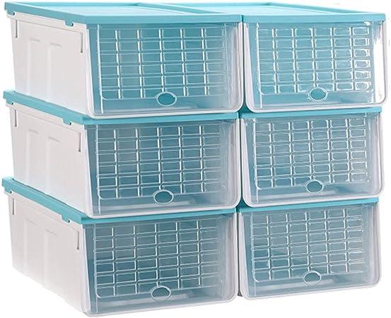 ZR Caja de Zapatos Transparente, cajón de plástico a Prueba de Humedad Caja de Almacenamiento de Zapatos, combinación de Caja de Almacenamiento de Zapatos, Caja de Zapatos Botas (Color : A): Amazon.es: