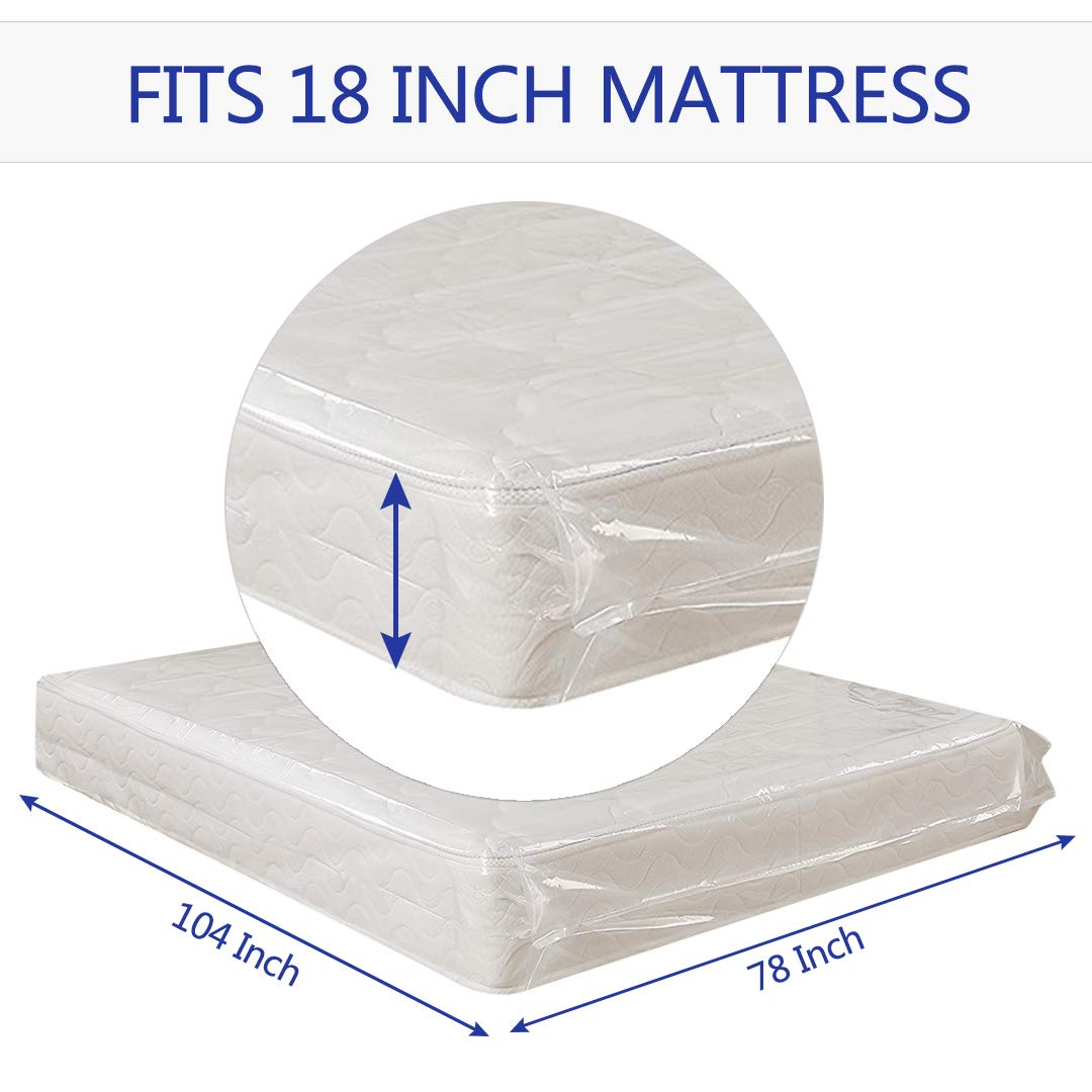 Fits Queen//King Size 2 Pack HOMEIDEAS Mattress Bags for Moving and Storage Protects Bedding and Furniture from Moisture and Dirt
