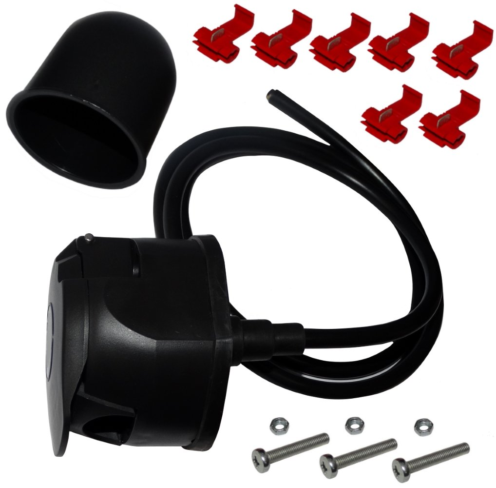 AERZETIX: Кit para cableado bola de remolque cableado de enganche 1.5m 7pin 12V cubierta de la pelota SK2-C12351-B276