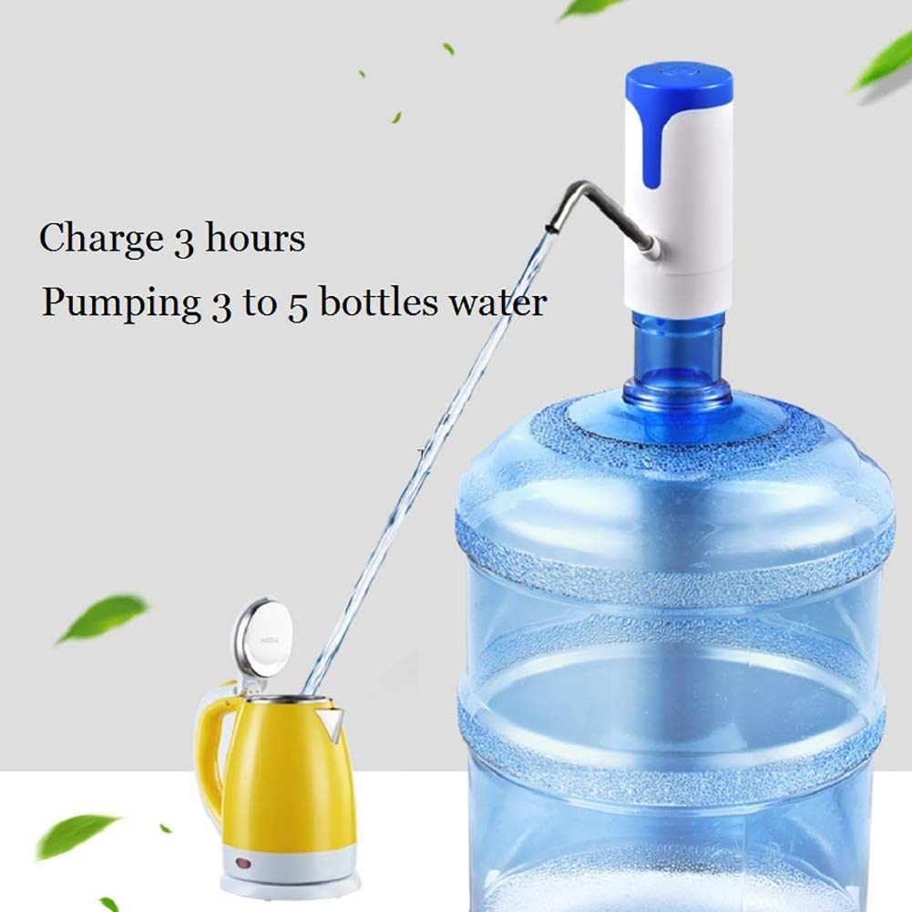 HUShjsd Drinking Water Pump,Bottled Water Electric Water Pump Automatic Water Collector,USB Rechargeable The Electric Home Kitchen Office (Color : Blue)
