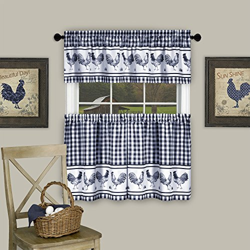 Achim Home Furnishings Barnyard Window Curtain Tier Pair and