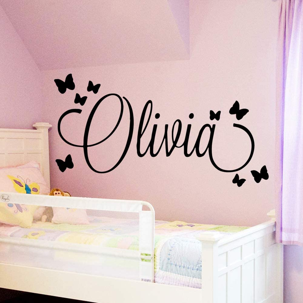 WWYJN Large Size Personalized Custom Name Wall Art Decal Babys Wall Stickers Material For Kids Girls Boys Bed Room Decoration Mural Blue XL 58cm X 109cm: Amazon.es: Hogar