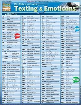 Popular acronym list for texting