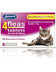:Johnsons Veterinary Products 4Fleas Tablets for Cats and Kittens 6Pk