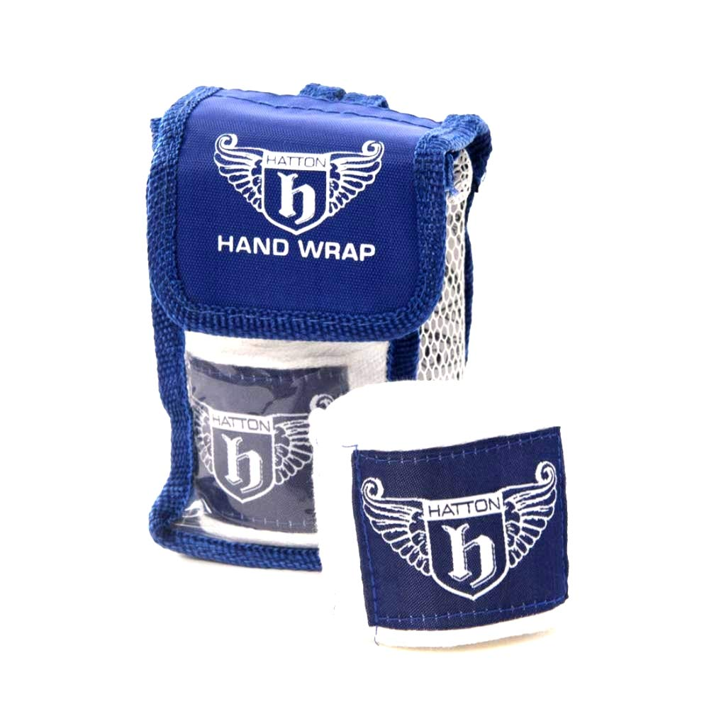 For Combat Sports 2.5m Stretch Cotton Elasticated MMA and Martial Arts inner gloves fist protector Blue//White Hatton Boxing Hand Wraps Velcro Fastening