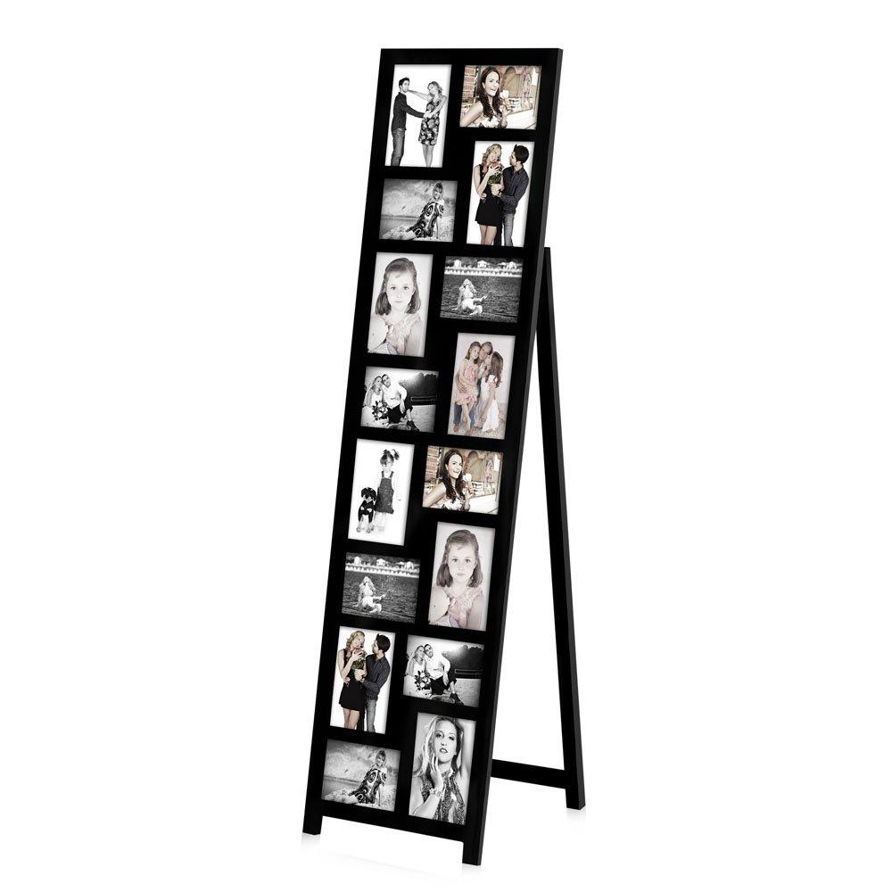 16 Fotos Bilderrahmen 10x15 mit Standfuß Fotogalerie schwarz ...