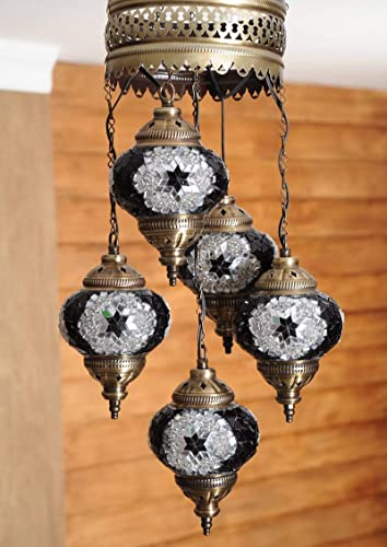 Amazon.com: Lámpara de techo turca marroquí hecha a mano con ...