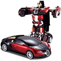 Famous Quality® Converting Car to Robot, Robot to Car Automatically,Transrmer Toy, with Light and Sound for Kids