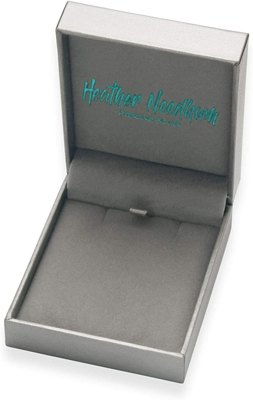 Impresionante broche de hoja de plata Heather Needham tama/ño grande tama/ño grande hoja de arce plata de ley caja de regalo de marca de lujo 9032//B63 8 g plata maciza 45 mm x 40 mm