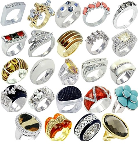 [Camille Lucie Rings 24 Piece Wholesale Lot for Variety MSRP $960] (Costumes Jewelry Supplies)