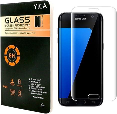 Galaxy S7 Edge Protector de Pantalla, Yica Protector de Pantalla ...