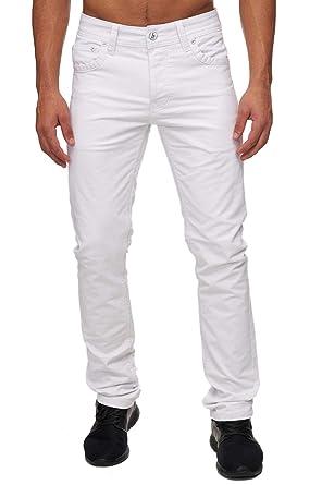 Herren Jeans Slim Fit Hose Stretch Chino Straight Leg, Farben Weiß, Größe  Jeans 9792bf0810